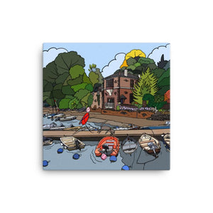 'The Boathouse'' Canvas Art