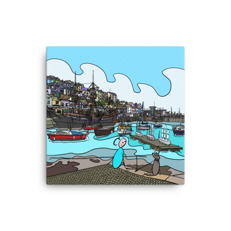 'The Harbour' Canvas Art