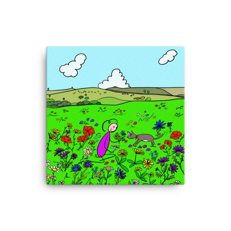 'The Meadow' Canvas Art