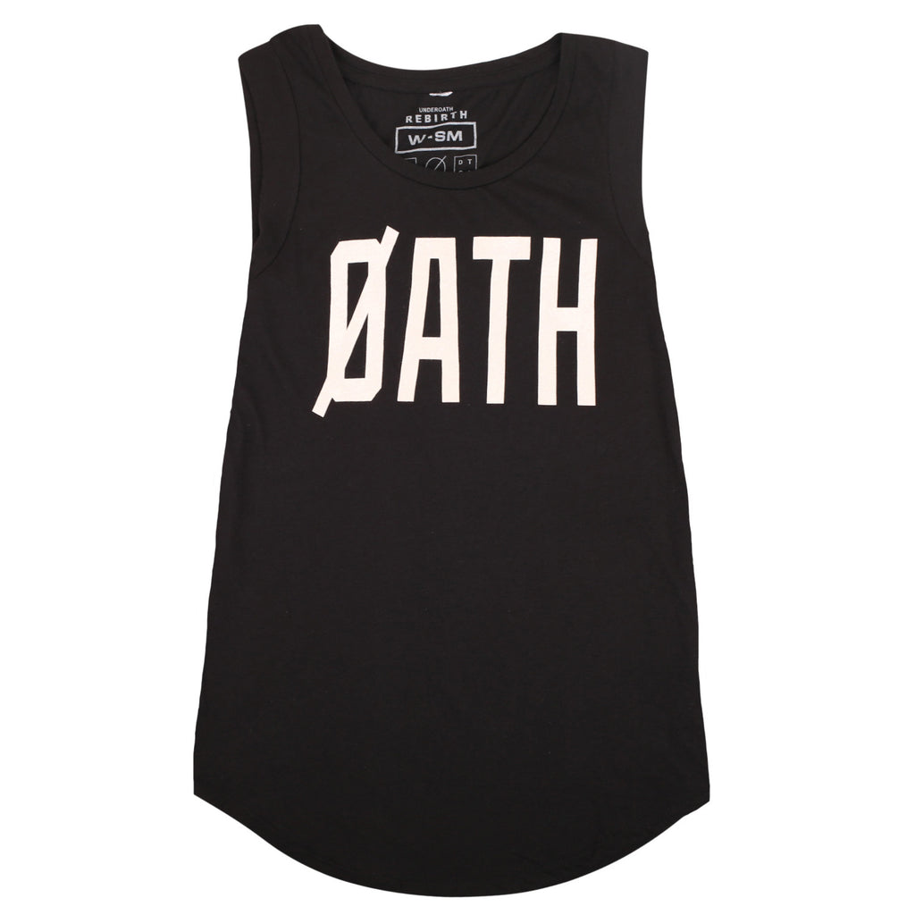 REBIRTH WOMENS MUSCLE TANK // BLACK