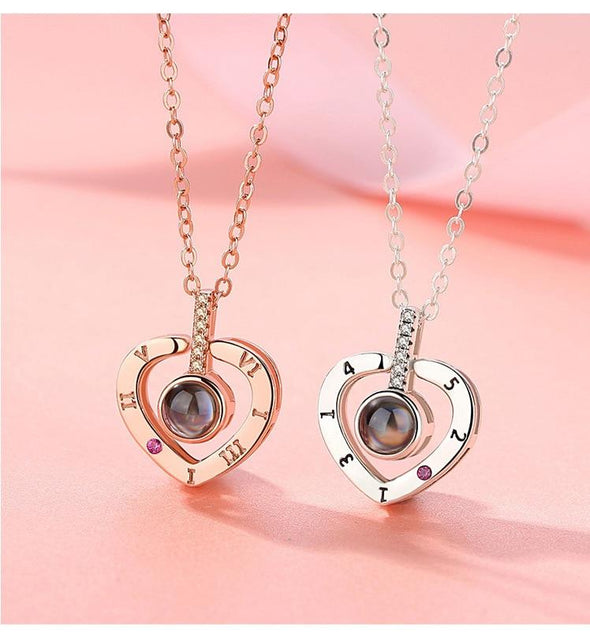 Heart Shaped 'I Love You' Pendant