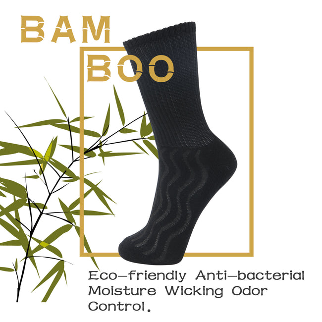 +MD Bamboo Diabetic Crew Socks Non-Binding (2 Pairs)
