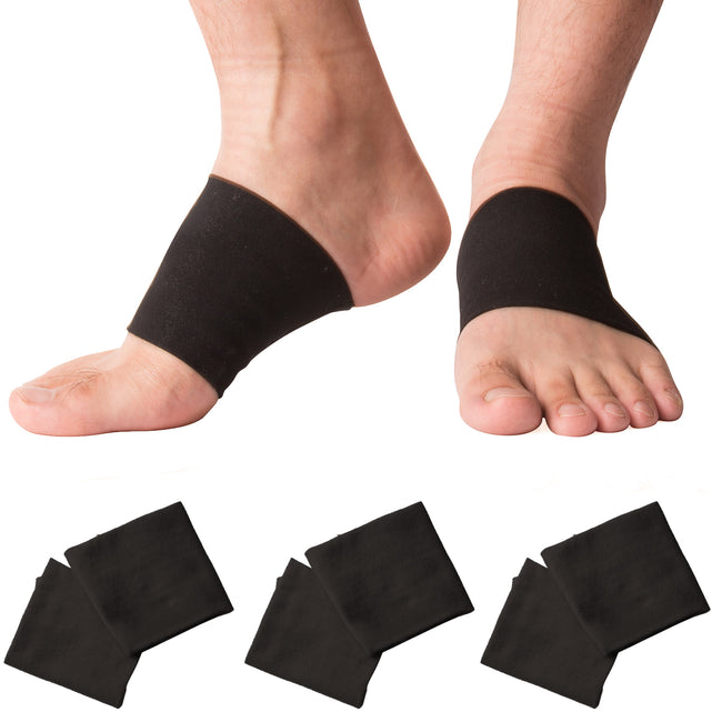 Arch Support Compression Sleeve Plantar Fasciitis Brace for Pain Relief Orthotic Support & Flat Arches(3 Pairs)