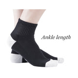 +MD Bamboo Diabetic/Dress Ankle Socks with Seamless Toe and Cushion Sole (2 Pairs)
