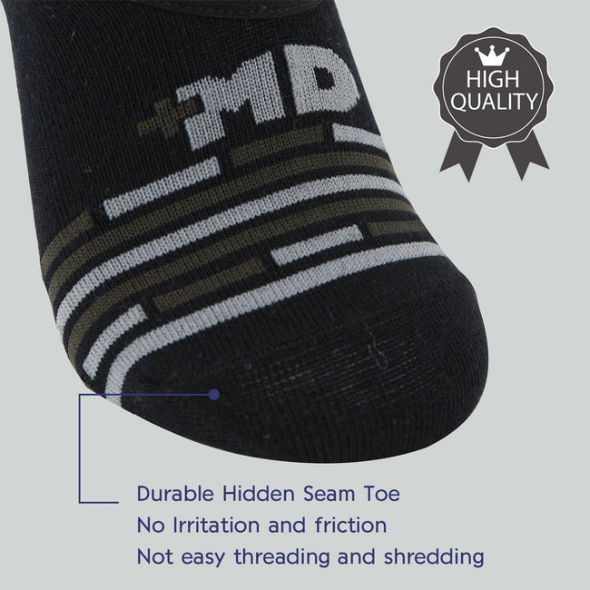 +MD Bamboo Anti-Odor No Show Moisture Wicking Liner Invisible Socks