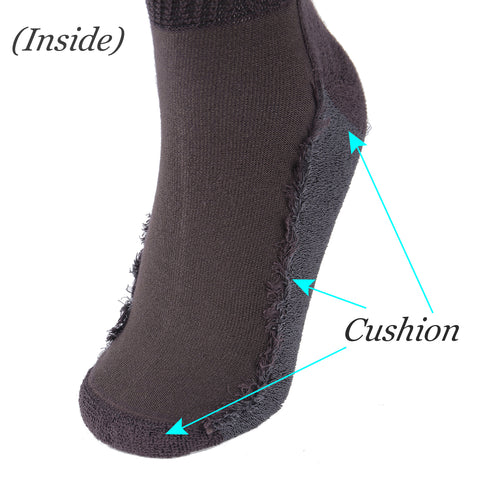 +MD Non-Binding Diabetic Bamboo Cushion Crew Business Socks (2 Pairs)