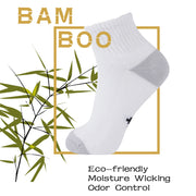 +MD Bamboo Anti Odor Ankle Socks with Seamless Toe (2 Pairs)