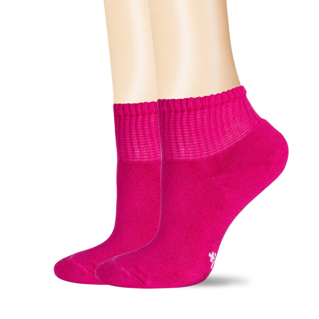 +MD Multi-color Bamboo Ankle Diabetic Socks Full Cushion (2 Pairs)