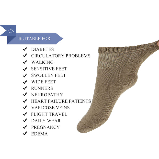 +MD Polyester Diabetic Ankle Socks Cushion Circulatory