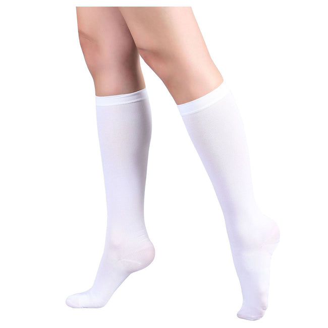 +MD 15-20mmHg Knee High Compression Adjustable Toe Medical Support Socks