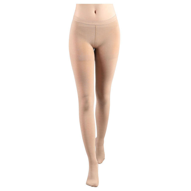 Women's 20-30 mmHg Compression Pantyhose Surgery Recovery Opaque