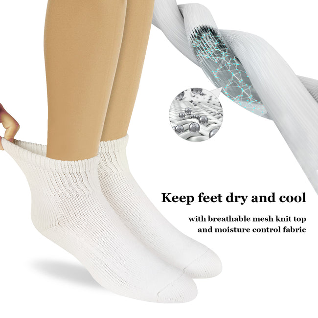 +MD Cotton Diabetic Warm Cushion Ankle Socks