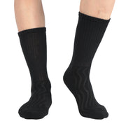Men's Bamboo Diabetic Crew Socks Non-Binding