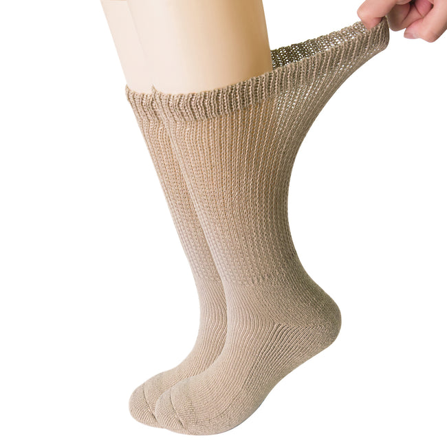 +MD Polyester Diabetic Crew Socks Half Cushion