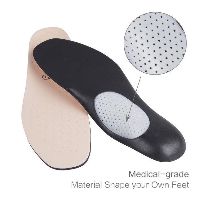 +MD Full-Length Shoe Insoles with Arch Support