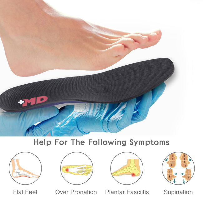 +MD Diabetic Insoles with Arch Support Orthotic Inserts