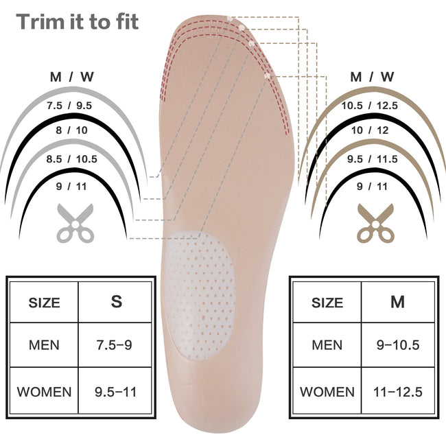 +MD Arch Support Shoe Insoles Orthotic Inserts