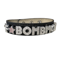 F*Bomb Mom Wide Genuine Leather Bracelet (available in 2 colors)