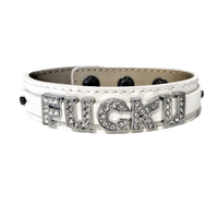 Fuck U Wide Genuine Leather Bracelet (available in 2 colors)