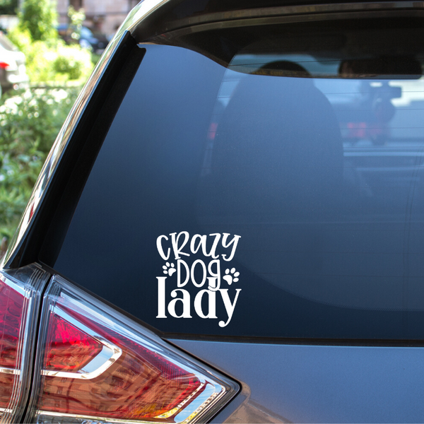 Crazy Dog Lady Auto Window Decal