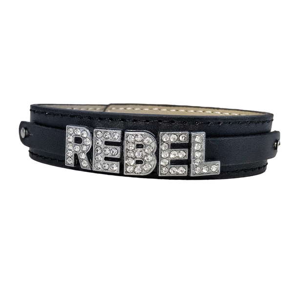 Rebel Wide Genuine Leather Bracelet (more colors)