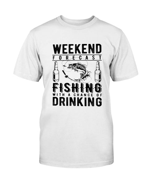 Weekend Forecast. Fishing Graphic T-Shirt (more colors)
