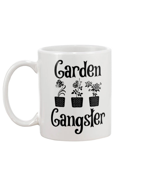 Garden Gangster White Beverage Mug