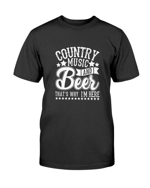 Country Music and Beer Graphic T-Shirt (more colors)
