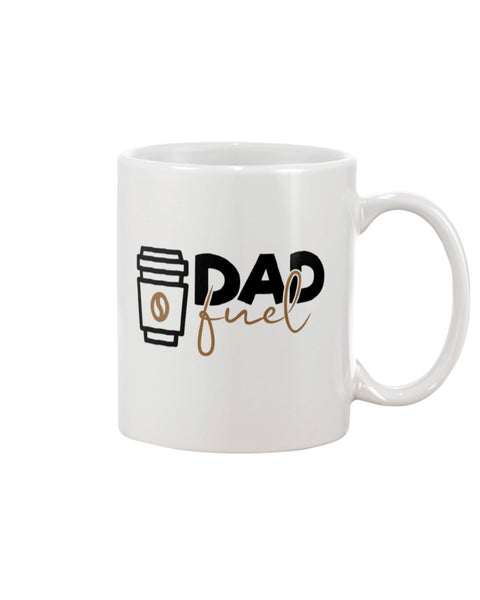 Dad Fuel White Beverage Mug