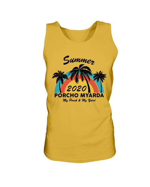 Summer 2020 Porcho Myarda - My Porch & My Yard Men's Graphic Tank Top (more colors)
