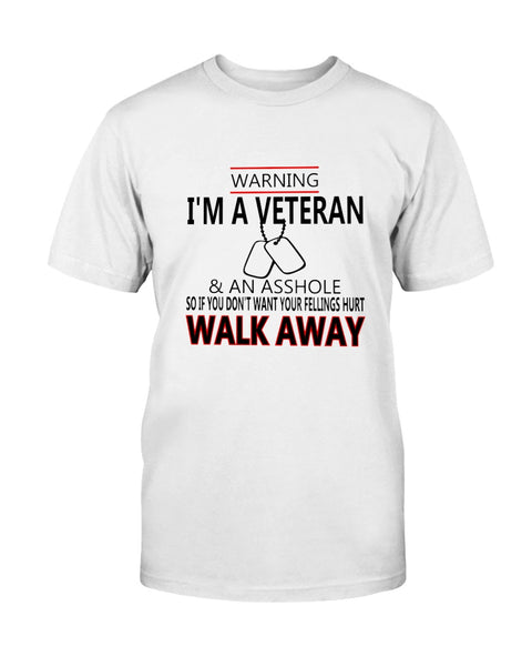 Warning I'm a Veteran Graphic T-Shirt (more colors)