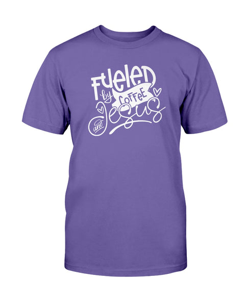 Fueled By Coffee and Jesus Graphic T-Shirt (more colors)