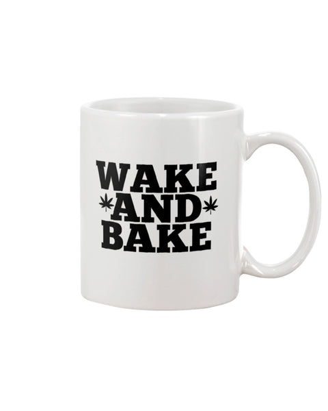 Wake and Bake White Beverage Mug