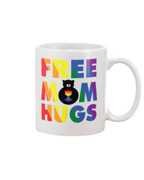 Free Moms Hugs White Beverage Mug