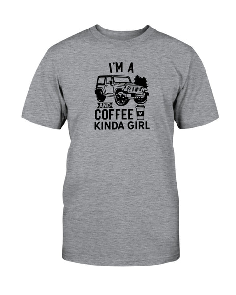 I'm A Jeep and Coffee Kinda Girl Graphic T-Shirt (more colors)