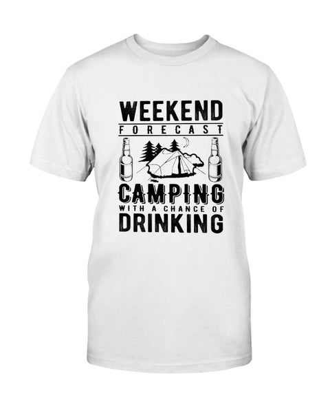Weekend Forecast. Camping Graphic T-Shirt (more colors)
