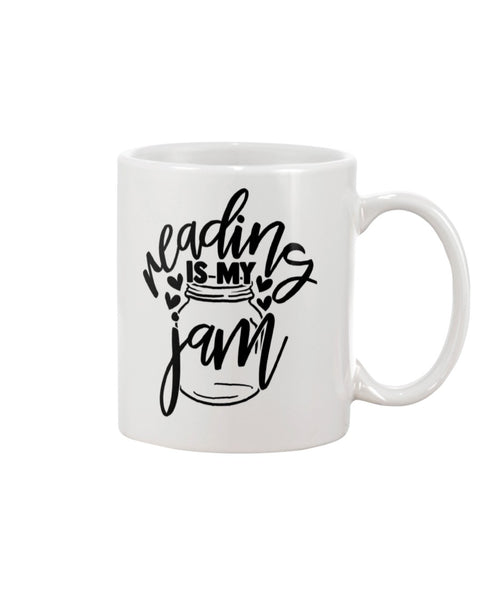 Reading Is My Jam White Beverage Mug