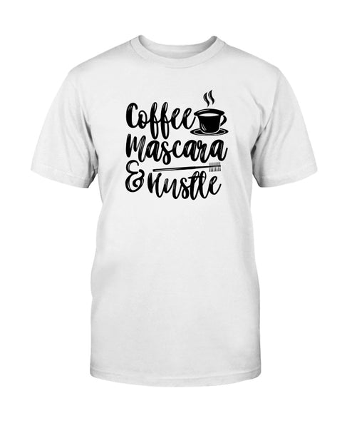 Coffee Mascara & Hustle Graphic T-Shirt (more colors)