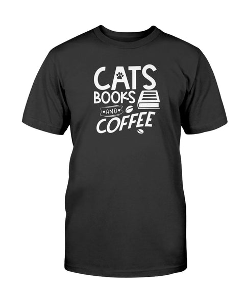 Cats Books and Coffee Graphic T-Shirt (more colors)