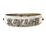 Savage Wide Genuine Leather Bracelet (more colors)