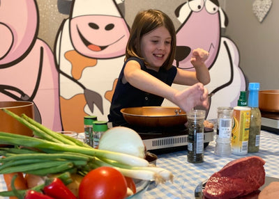 Cooking with Kids - Steak Nicoise