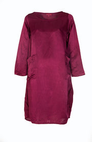 Roshan Dress Hand Dyed Plain Colour In Bamboo Linen £139 - Now £69!