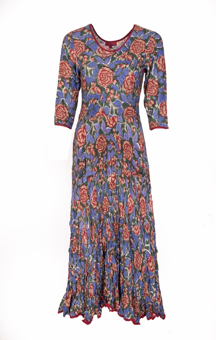 Dewani Dress in Hand Block Printed Brushed Cotton £110 - Now £99