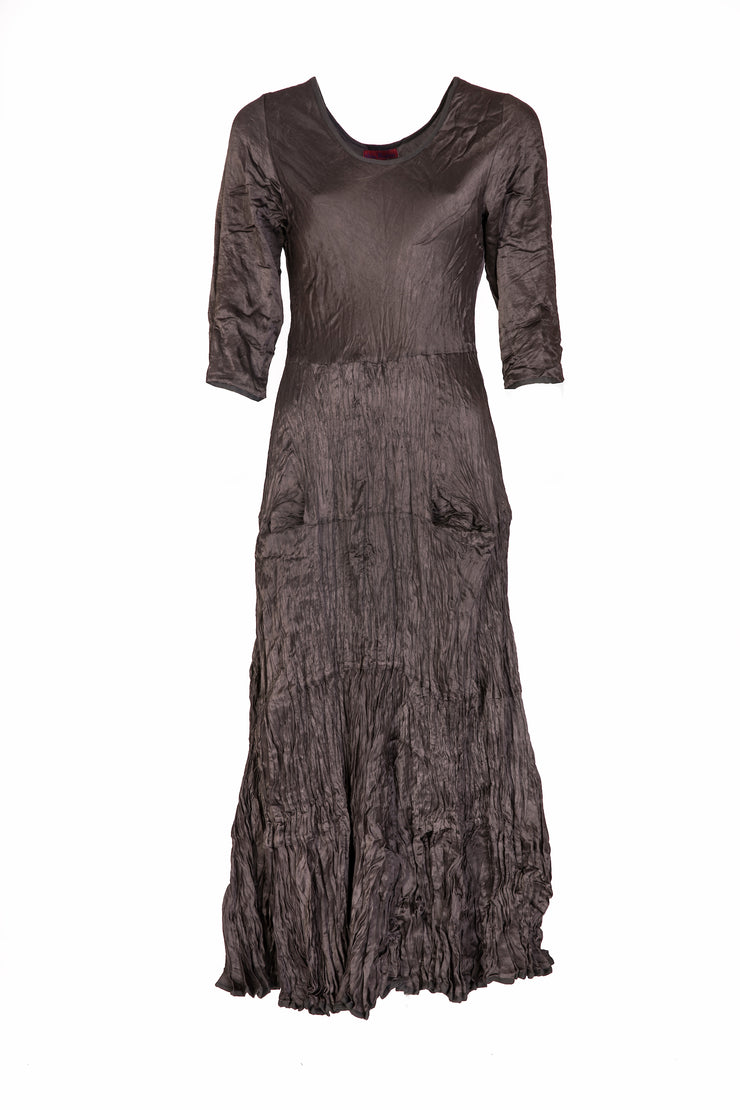 Dewani Dress  in Pewter Bamboo Linen