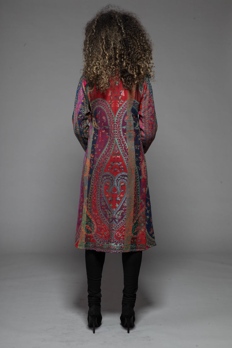 New Nargis Jacket in Pure Jacquard Woven Wool