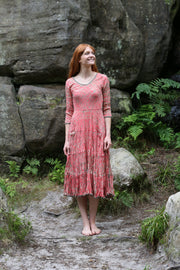 Ruby Sun Dress Hand Tie-Dyed Shibori Pure Cotton