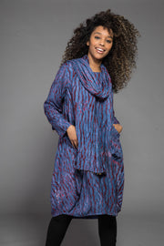 Roshan Dress Shibori in Sustainable Moss Crepe