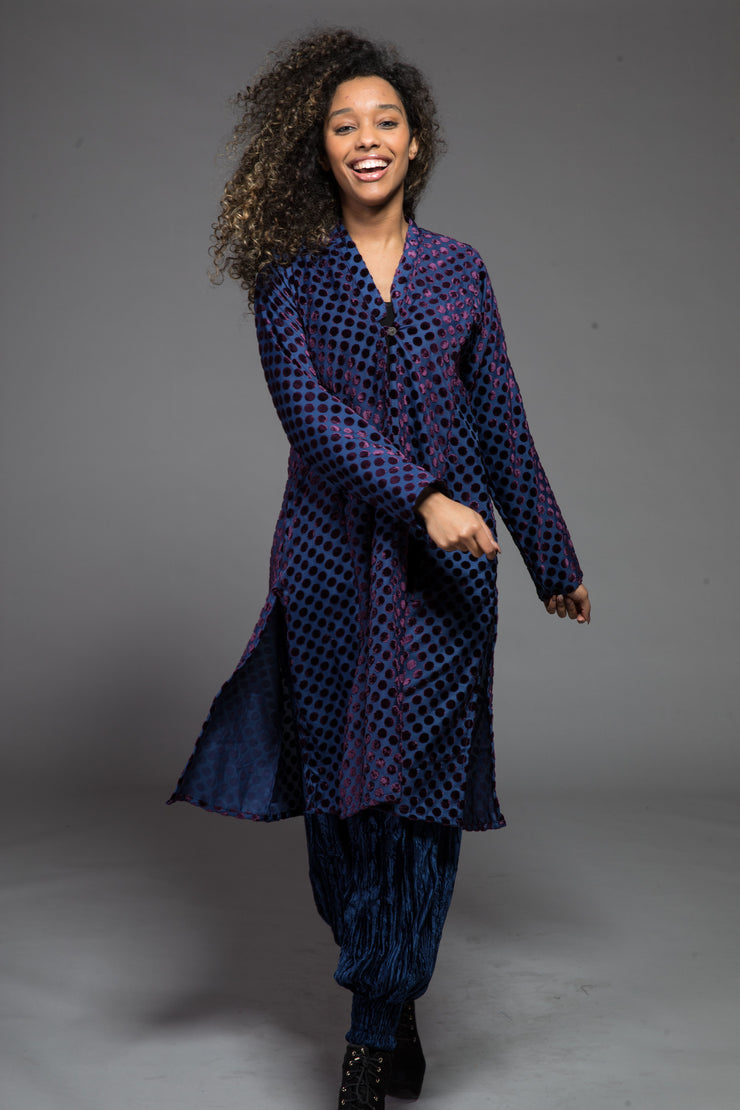 New Nargis Jacket in Patterned Velvet