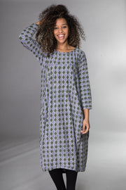 Farah Dress Hand Block Printed Jersey - 2 Sizes - Now Only £39!