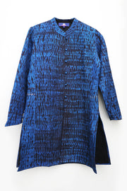 Shah Reversible Jacket Shibori in Pure Silk